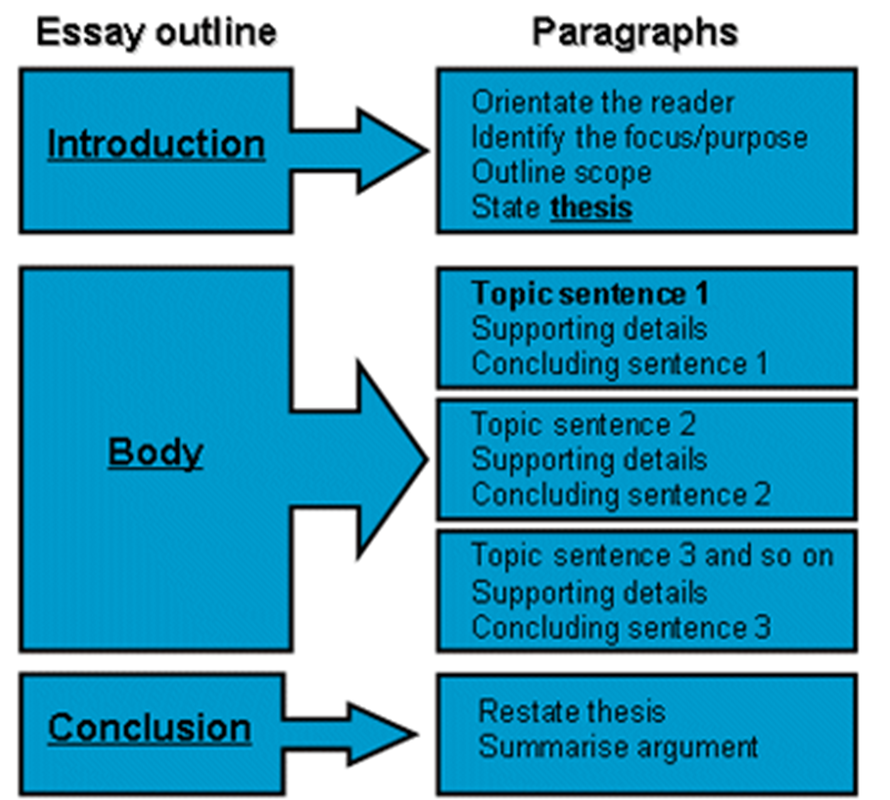 paragraph development structure of an essay Strong academic writing has a clear structure there is no set number of body paragraphs that you need for your essay structuring body paragraphs.